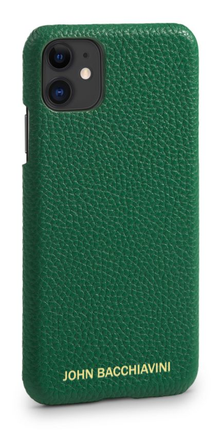 Jadeite Green Leather iPhone 11 Case