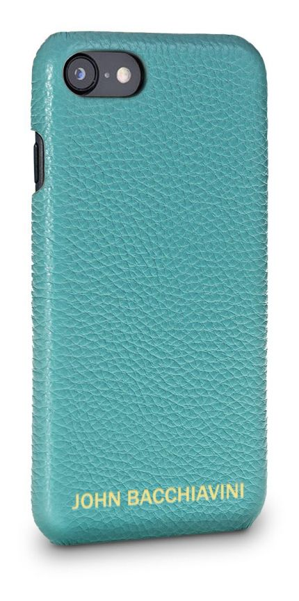 Turquoise Leather iPhone SE Case