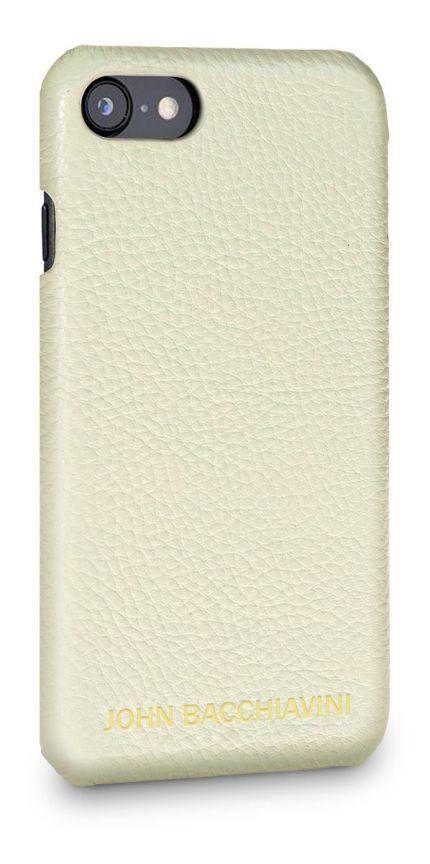 Cannoli Cream Leather iPhone SE Case