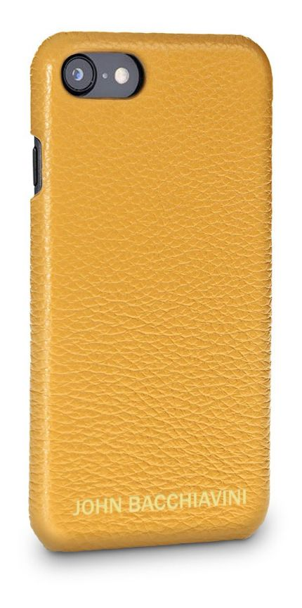 Marigold Yellow Leather iPhone SE Case
