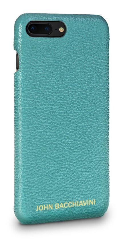 Turquoise Leather iPhone 7/8 Plus Case