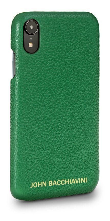 Jadeite Green Leather iPhone XR Case