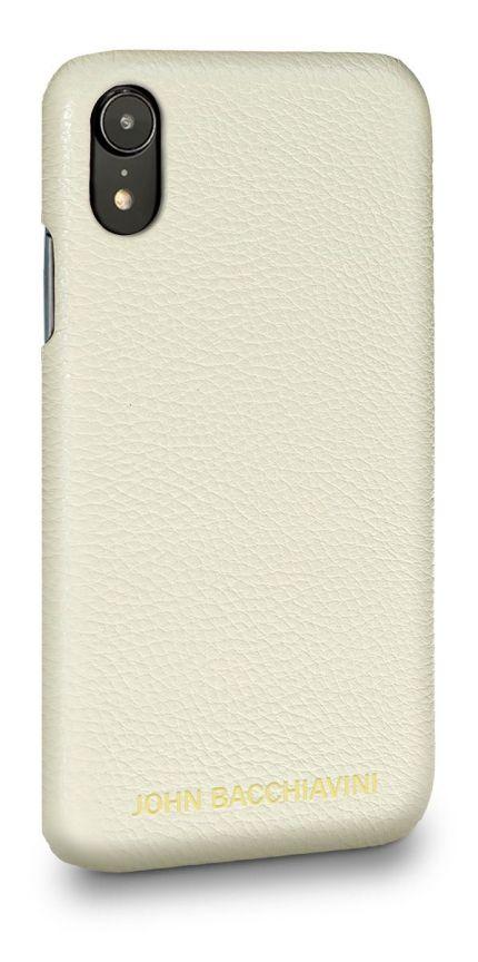 Cannoli Cream Leather iPhone XR Case