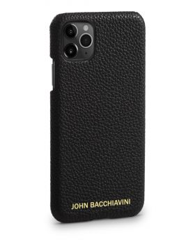Tartufo Black Leather iPhone 11 Pro Case