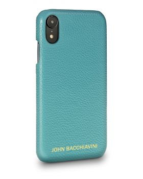 Turquoise Leather iPhone XR Case