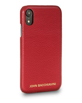 Rafflesia Red Leather iPhone XR Case