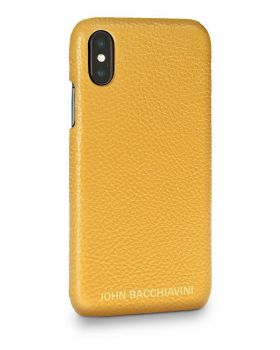 Marigold Yellow Leather iPhone X/XS Case