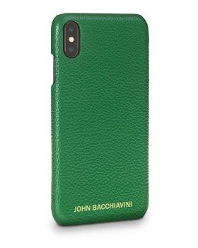 Jadeite Green Leather iPhone XS MAX Case