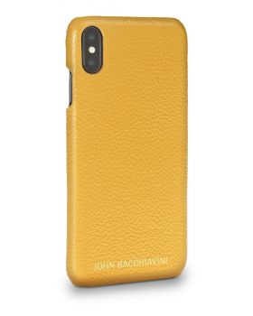 Marigold Yellow Leather iPhone XS MAX Case