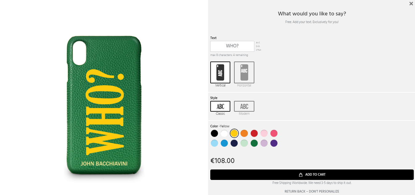 How to personalize your leather iphone case - Screenshot